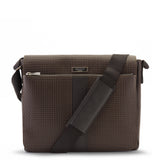 Borsa a tracolla Messenger grande, Stepan/Evolution ##Cioccolato/Nero