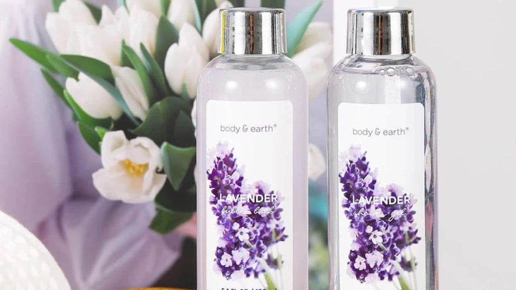 Body & Earth Lavender Bath Gift Set - Best Self Care Products - Picky Leaf
