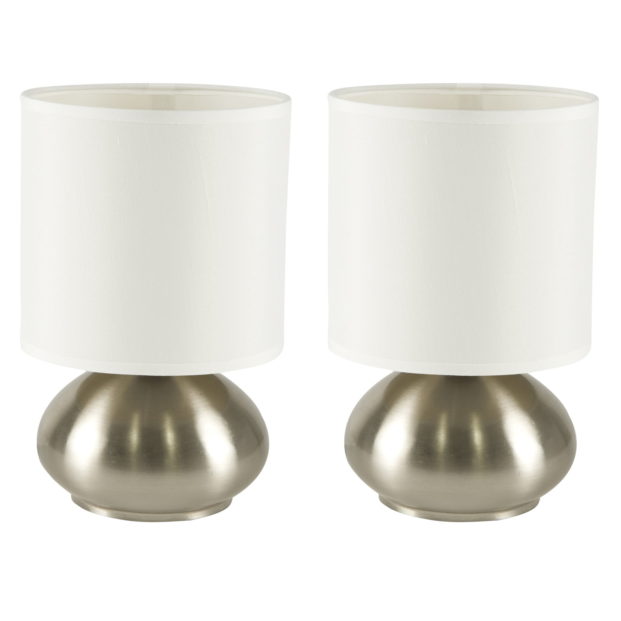 Bedroom Table Lamp With On Off Touch Sensor 2 Pack Brushed Nickel 3 Way Brass Light Switch Accents Side Lamps Set Of