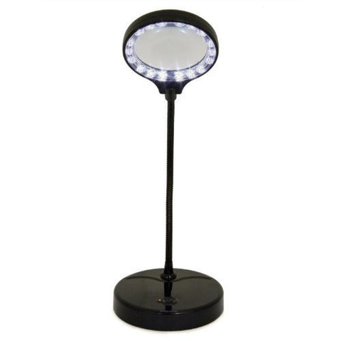 LightAccents Battery Operated Lighted Magnifier Desk Lamp with Flexible Gooseneck - LightAccents.com  - 4