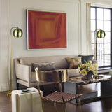 "Mid-Centry Floor Lamp, Reading Light 59"" Tall Brushed Brass Finish"