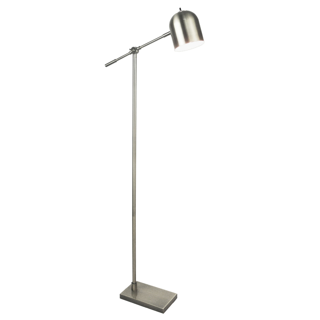 "Light Accents Cantaliever Modern Floor Lamp 59"" Tall (Brushed Nickel Finish)"
