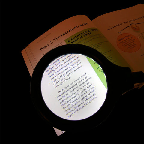 LightAccents Battery Operated Lighted Magnifier Desk Lamp with Flexible Gooseneck - LightAccents.com  - 3