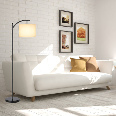 Floor Lamp for Reading by LightAccents - Hanging Reading Lamp - Standing Reading Light (Bronze)