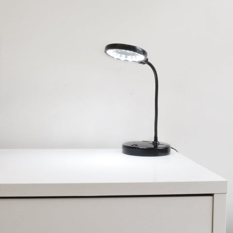 LightAccents Battery Operated Lighted Magnifier Desk Lamp with Flexible Gooseneck - LightAccents.com  - 8