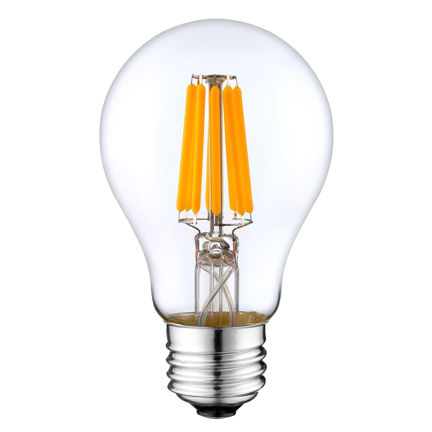 LED Filament Light Bulb A19, 10W (Warm White), (E26) UL-Listed (Pack of 2)