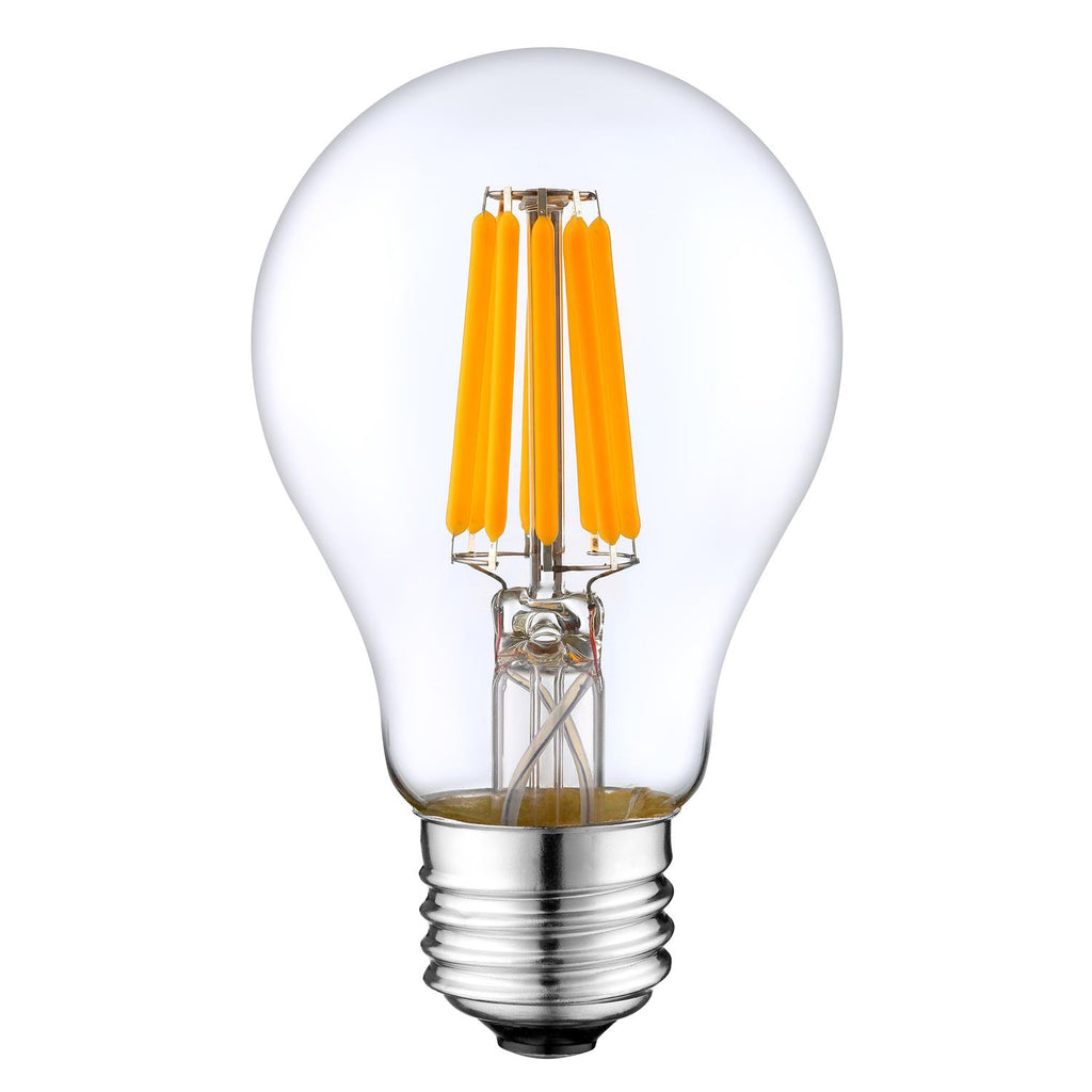 LED Filament Light Bulb A19, 10W (90W Equivalent), 1000 lumens, 2700K (Warm White), (E26) UL-Listed – (Pack of 2)