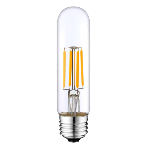 LED Filament Light Bulb T10, 6W (40W Equivalent), 600 lumens, 2700K (Warm White), (E26) UL-Listed – (Pack of 2)