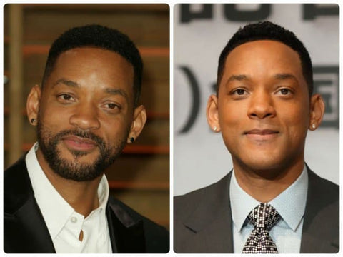 celebrities with and without beard