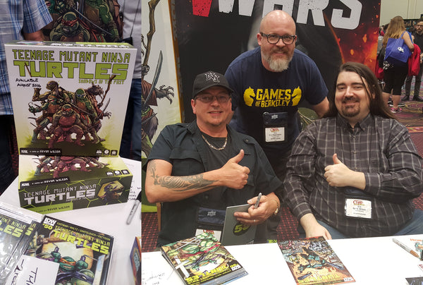 The Overlord with TMNT co-creator Kevin Eastman and game designer Kevin Wilson.