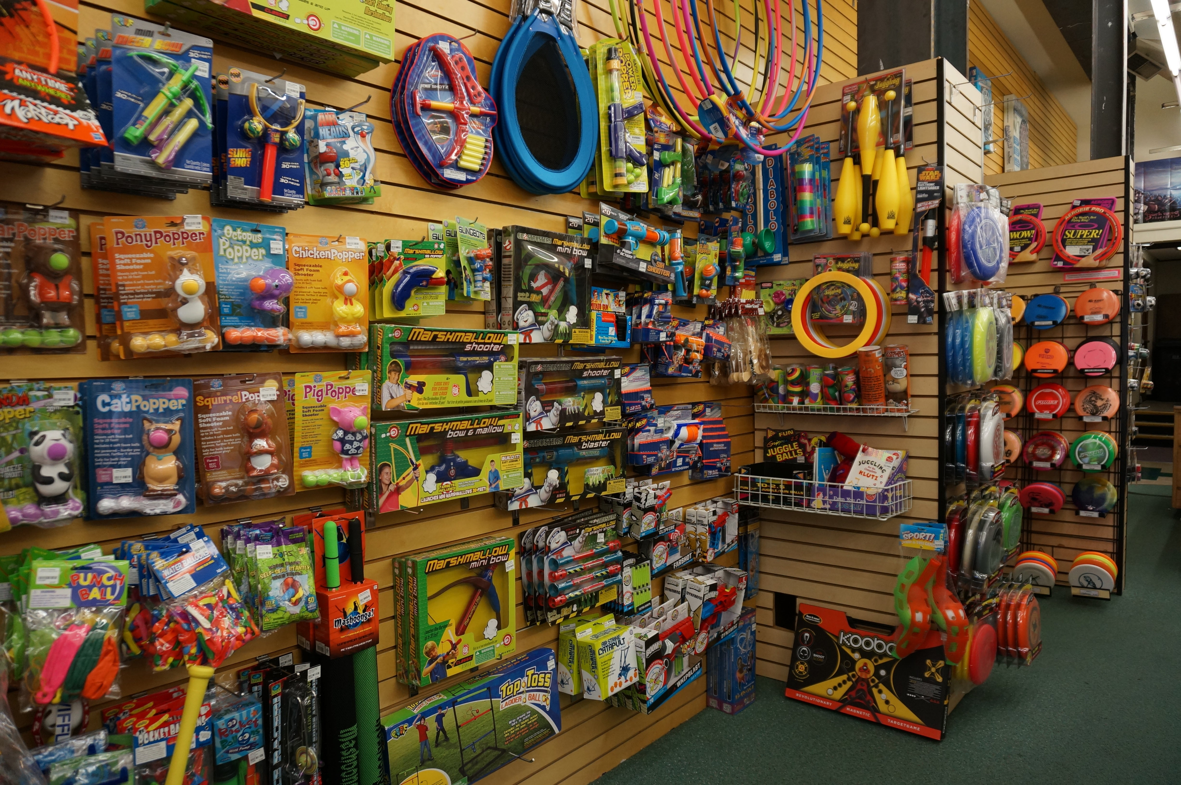 Outdoor games and toys section at Games of Berkeley