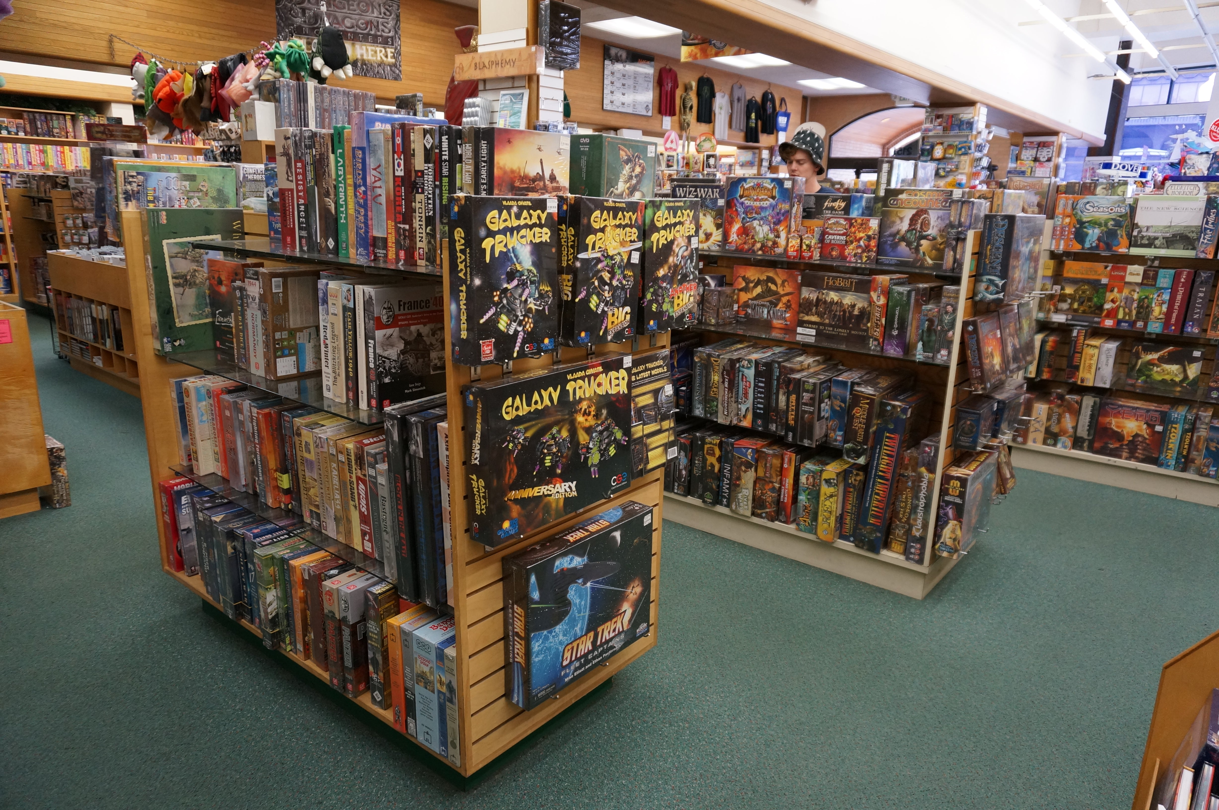 Board Game Section at Games of Berkeley
