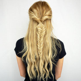 Woman with beautiful hair extensions