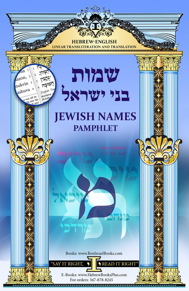 Shemot Bney Israel (Names Interpretations) The letter Mem Hebrew/English Linear Translation and Transliteration
