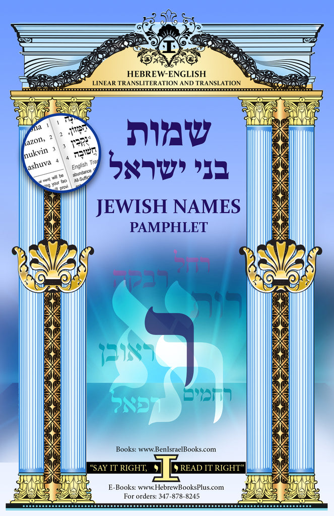 Shemot Bney Israel (Names Interpretations) The letter Resh Hebrew/English Linear Translation and Transliteration