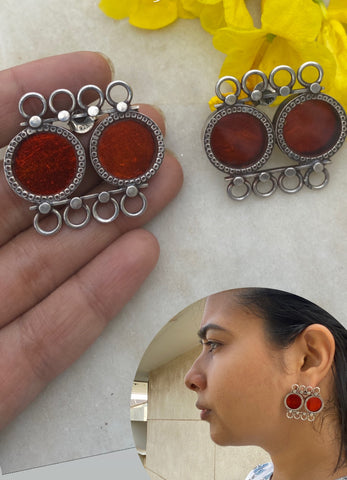 Pink Hand Painted Square with Charms