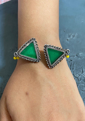 Two Triangle Cuff - 925 Silver