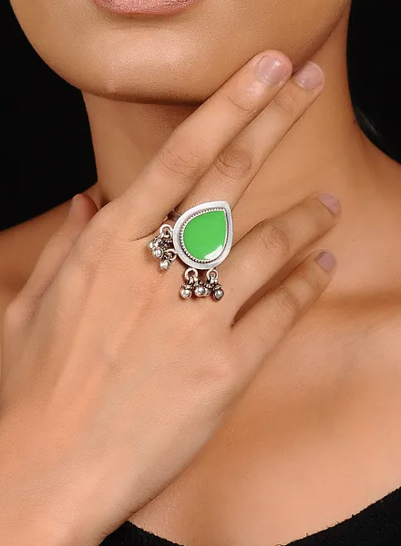 Drop Ring - 925 Silver