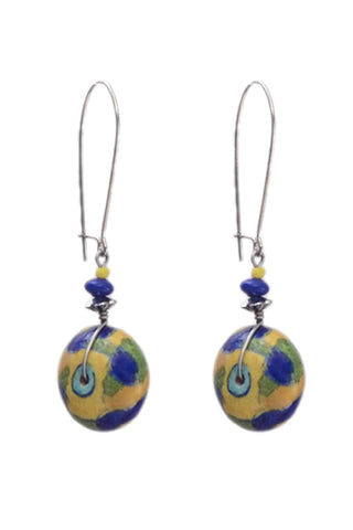 Blue Pottery earring