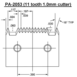 PA-2053 (11 tooth 1.0mm) Blade