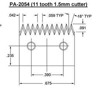 PA- 2054 (11 tooth 1.5mm) Blade