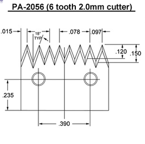PA- 2056 (6 tooth 2.0mm) Blade