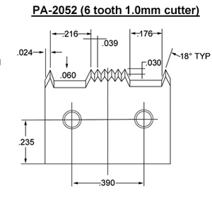 PA-2052 (6 tooth 1mm) Blade
