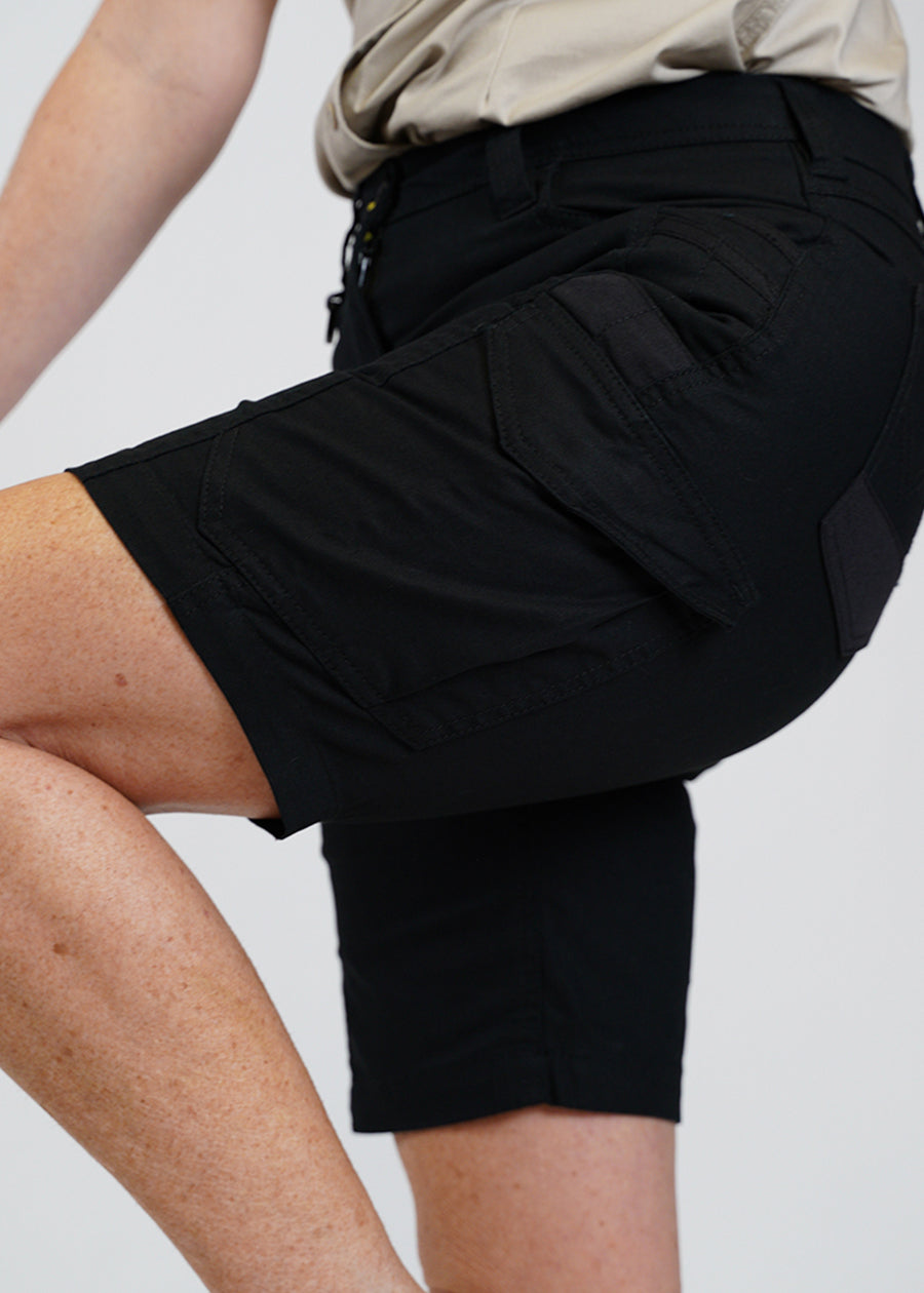 Tough fabric with stretch