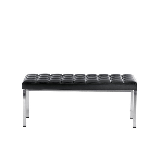 Midj Marsiglia Bench 140 | Quilted Chrome Modern Benches