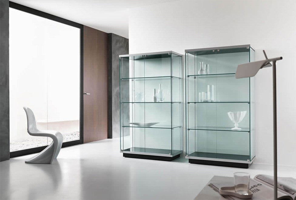 Modern italian bookcases designer contemporary luxury for Vetrine soggiorno ikea