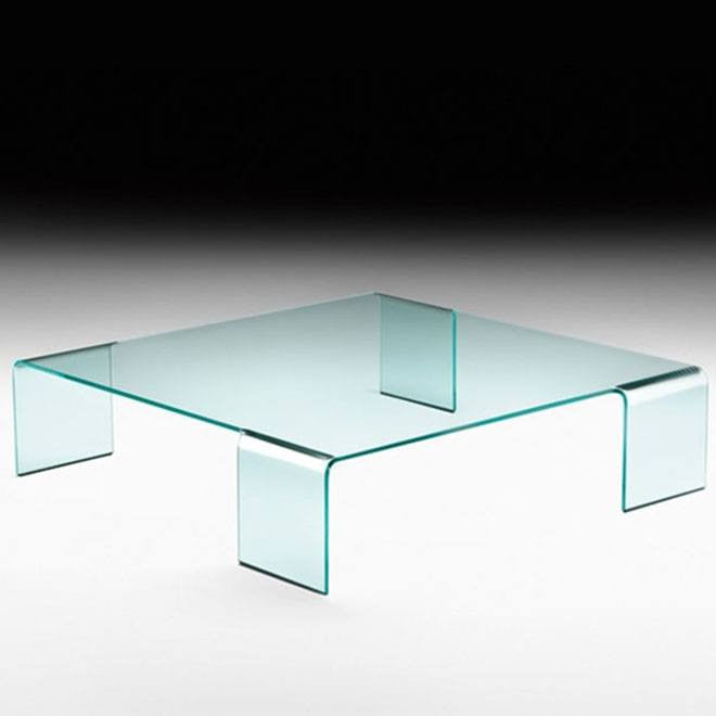 Fiam Neutra Table Curved Glass Coffee Tables Modernpalette