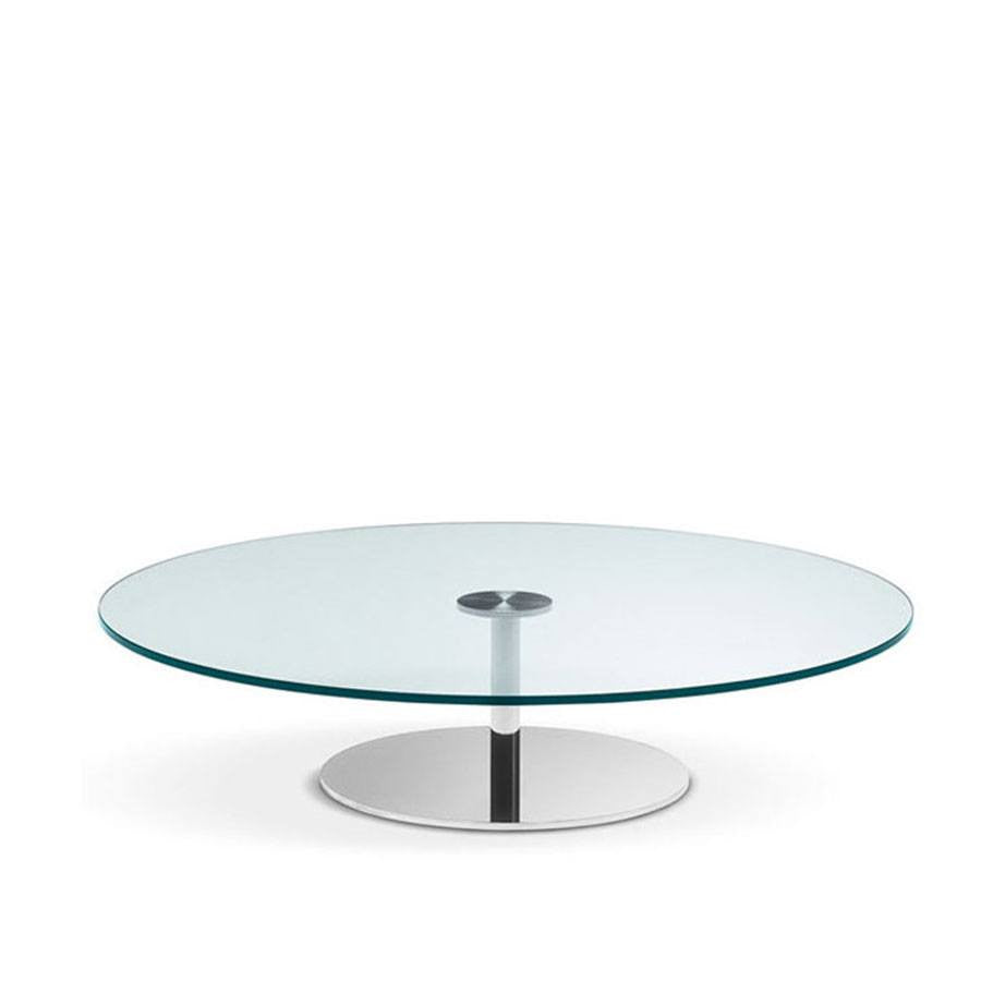 Tonelli farniente coffee table modern glass tables - Table basse ronde grise ...