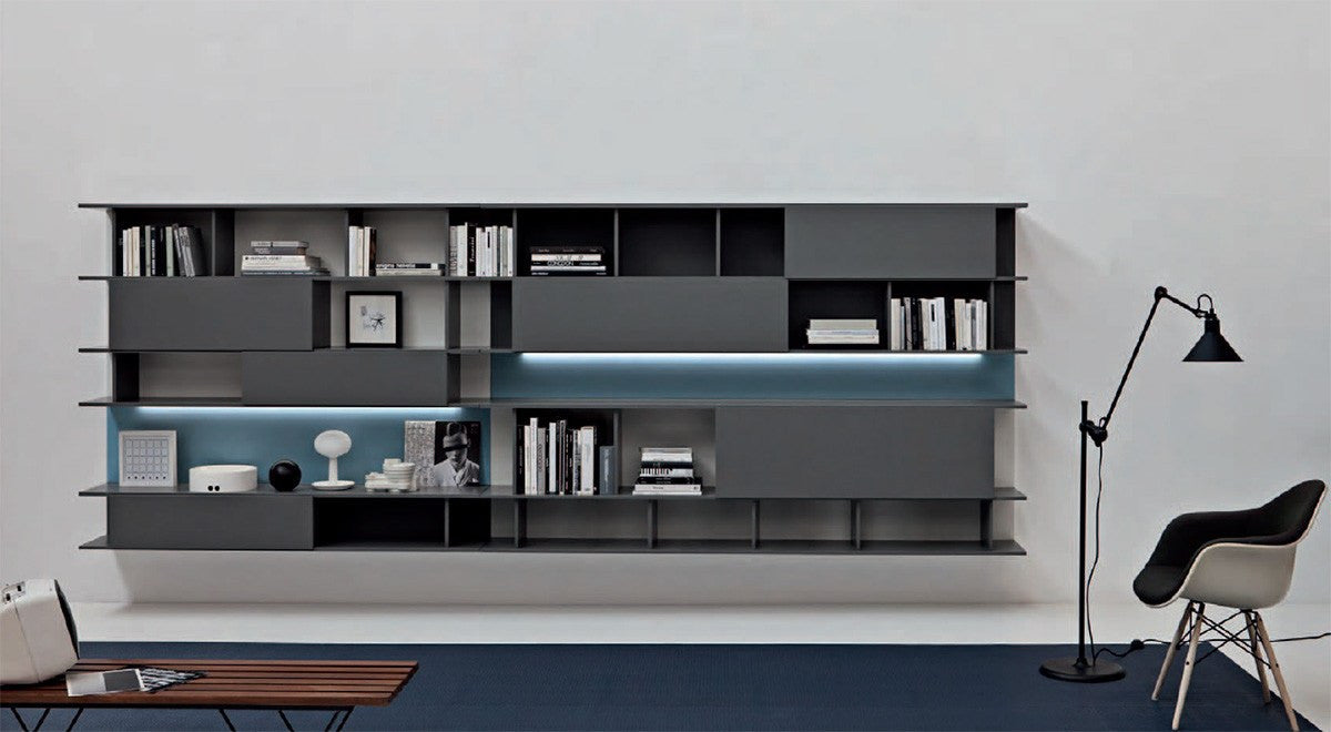 ... TV Media Unit   Sangiacomo L2 01 Wall Bookcase ...