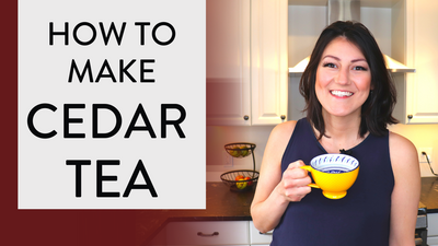 How to make CEDAR TEA ☕️( From TREE to Tea in 5 simple steps) 🌲