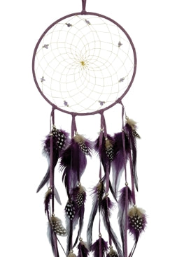 "6"" Semi-Precious Dream Catcher - Purple"