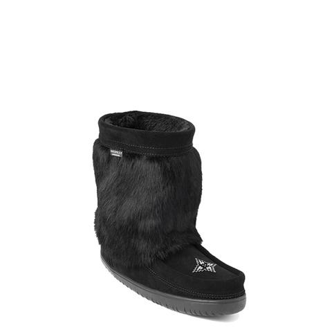 Waterproof Suede Half Mukluk (Black)