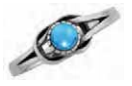 Ladies Stainless Steel Turquoise Ring