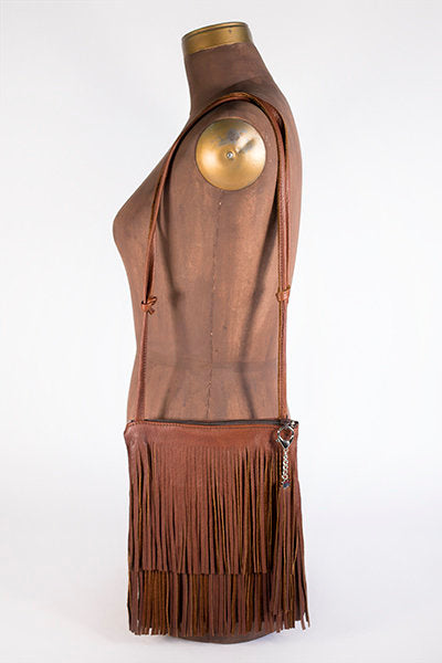 Double Fringe Zipper Purse (Buffalo Cork)