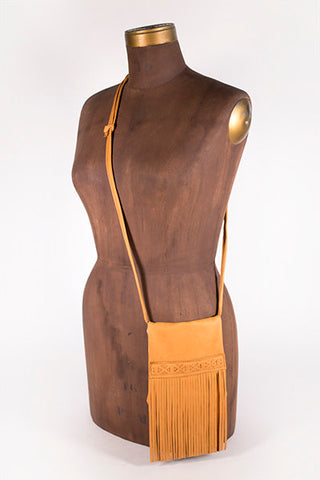 Fringe Purse (Saddle Tan)