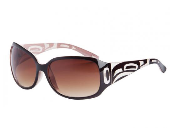 Ladies Yasmine Raven Sunglasses (Burgundy/Pink)