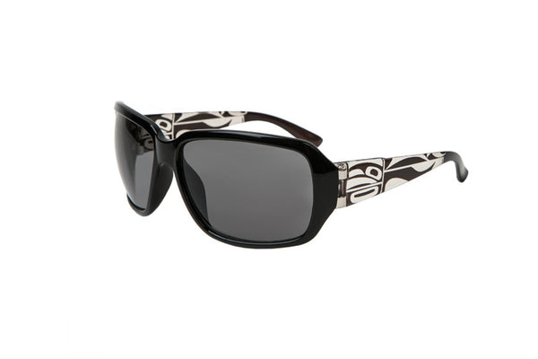 Ladies Harmony Wolf/Orca/Raven Ladies Sunglasses (Black)