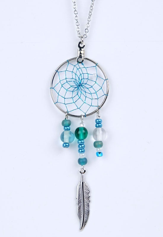 Dream Catcher Necklace - Turquoise/Green