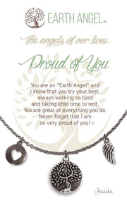 Earth Angel Charm Necklace - Proud of You
