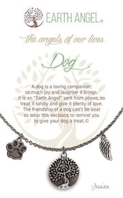 Earth Angel Charm Necklace - Dog