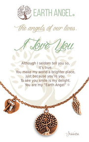 Earth Angel Charm Necklace - I Love You