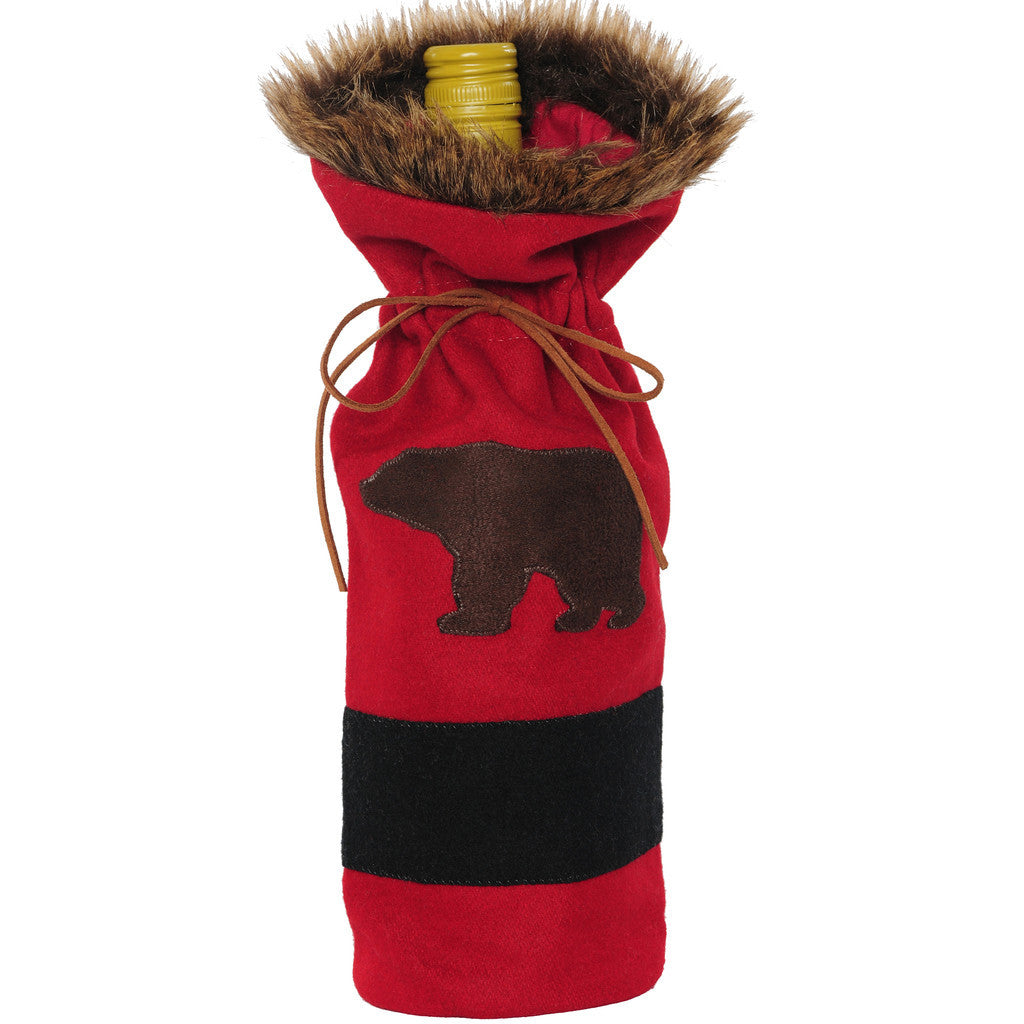 Red Black Bear Bottle Cover