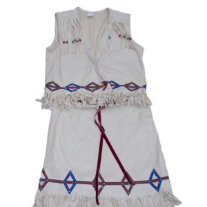 Faux Suede Native Princess Dress Set