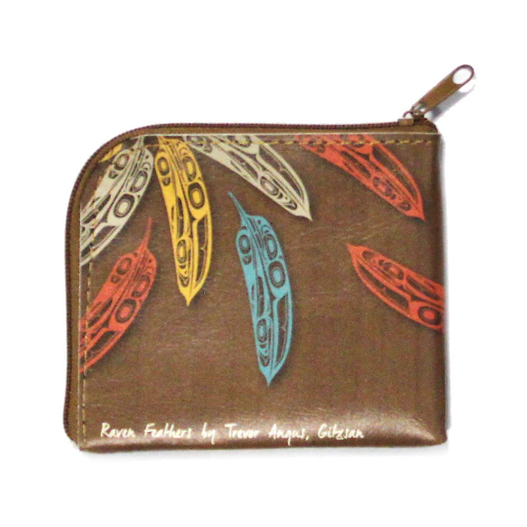 Coin Purse - Raven Feathers