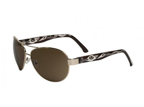 Cameron Heron Aviator Sunglasses (Gold)