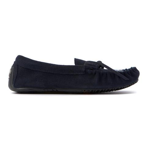 Canoe Suede Moccasin (Navy)